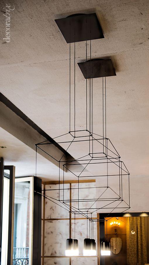 Lámparas de techo en Casa Decor 2014: salón de Diego Rodríguez