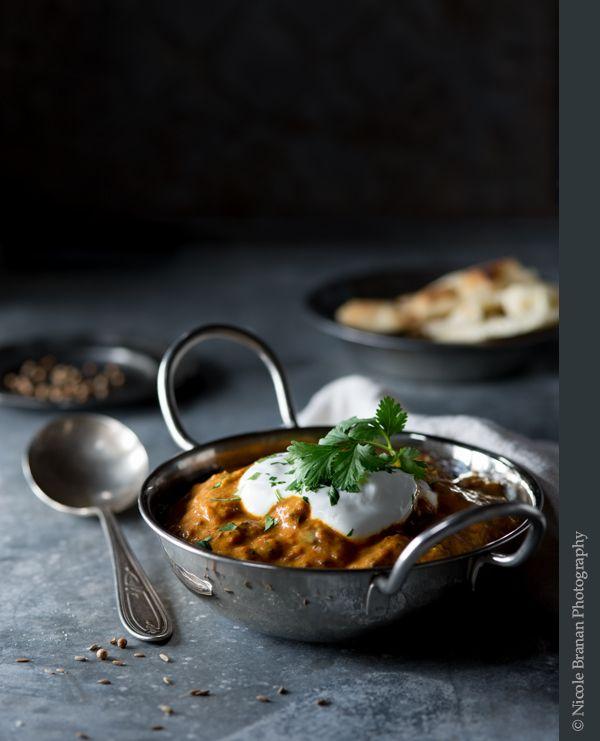 Медленный плита Индийский куриный карри Рецепт