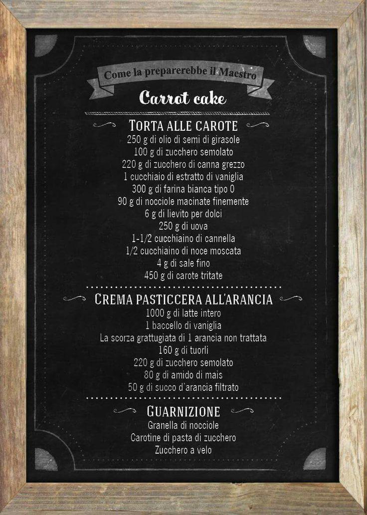 Carrot cake , torta di carote e nocciole - Massari the sweetman