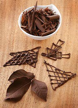 Hogyan készítsünk csokoládédíszeket?
