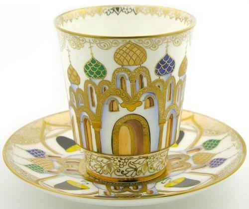 Lomonosov russian cup and saucer