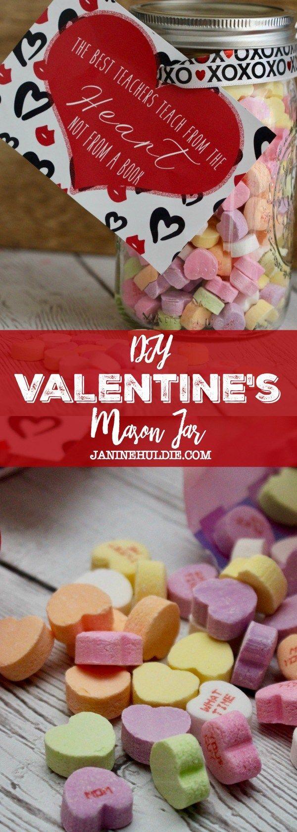 DIY Valentine's Mason Jar