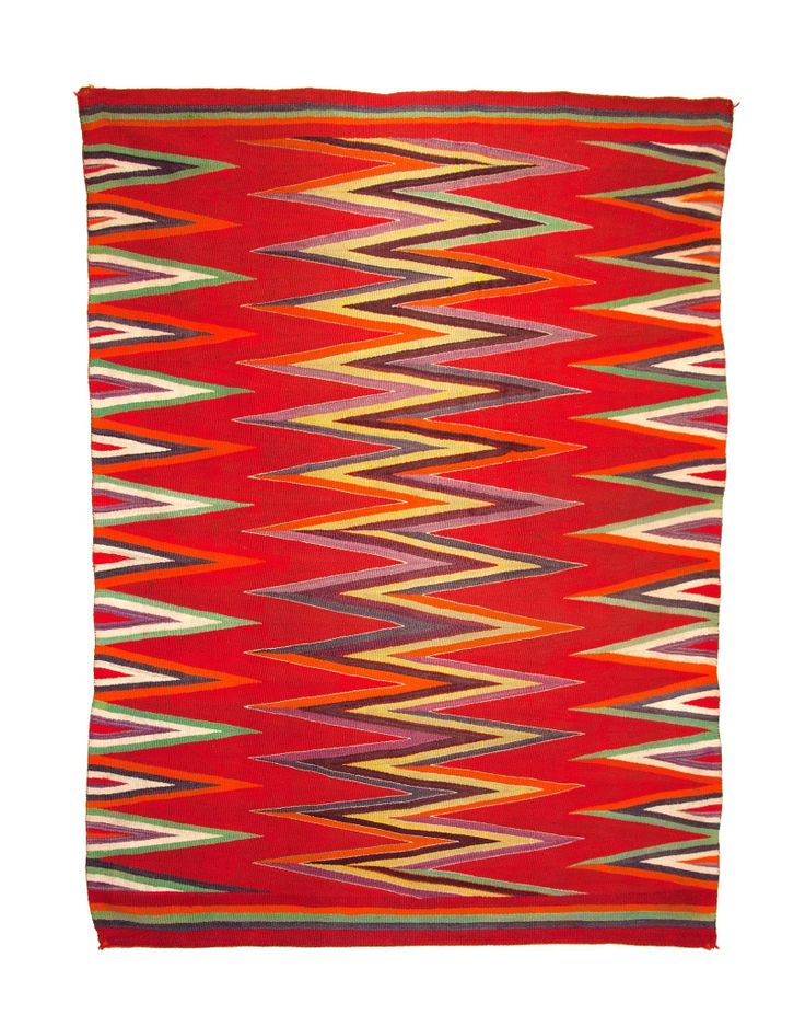 Navajo Wedge Weave Serape Circa 1890 85 Inches Long By 65 Wide