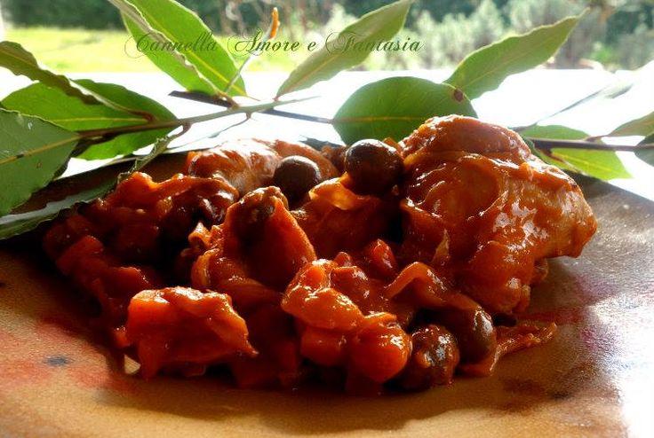 Coniglio alla stimpirata ricetta tipica siciliana è una ricetta della mia infanzia, nella mia zona si prepara aggiungendo anche la buccia d'arancia