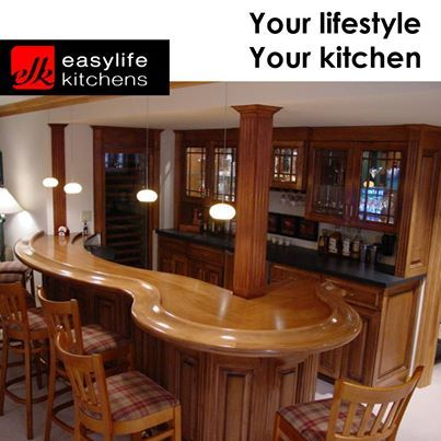 Wouldn't you just love to have the guys over to watch sport in your home, if you had a bar like this? You dream it up, we will draw it up and have it made to your specifications. Easylife Kitchens George more than just kitchens, we are a #lifestyle. #homecupboards #designercupboards