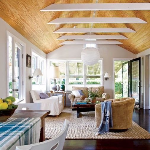 15 easy and inexpensive room upgrades sun wood ceilings and house ideas for Cheap ceiling ideas living room