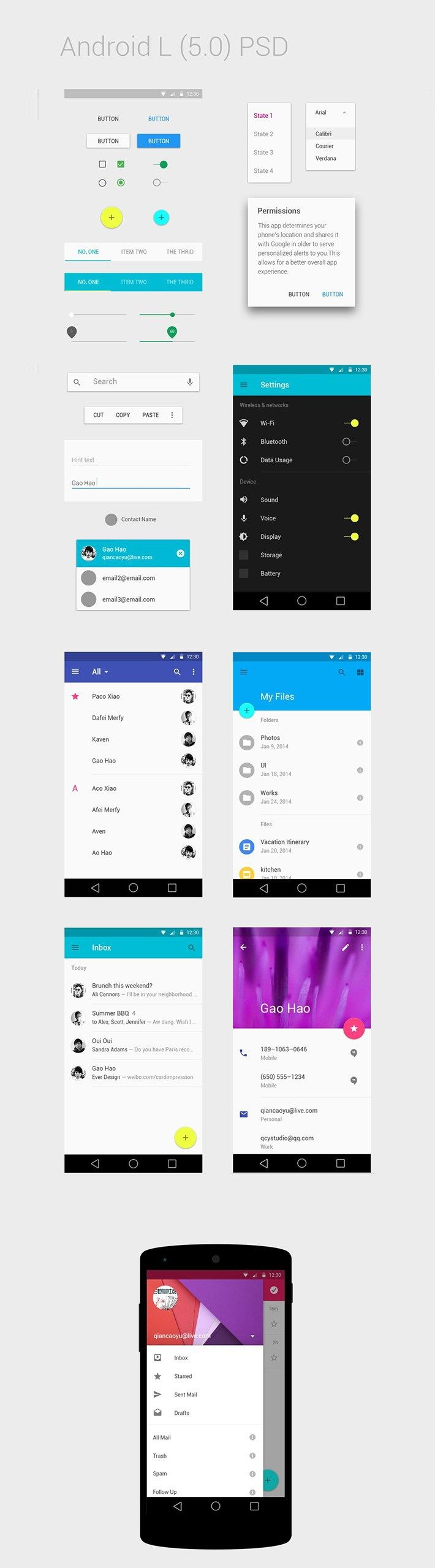 10 GUI Templates for Android