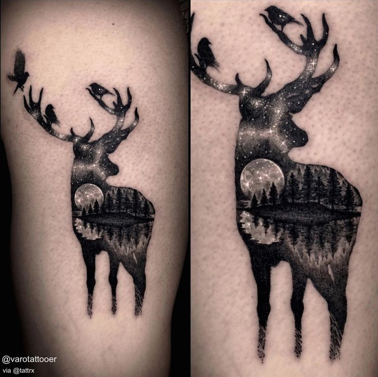 26 Deer Tattoos: Ponad 25 Najlepszych Pomysłów Na Pintereście Na Temat