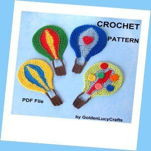 Hot Air Balloon Applique Crochet Pattern | YouCanMakeThis.com