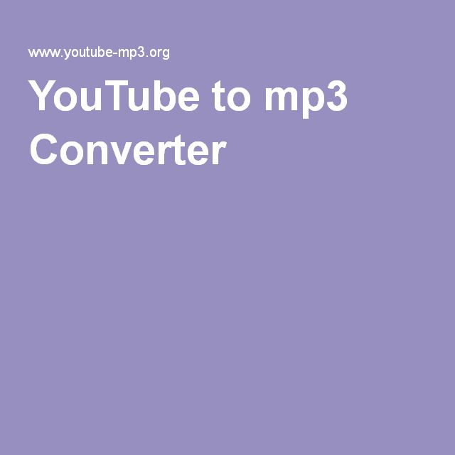 YouTube to mp3 Converter