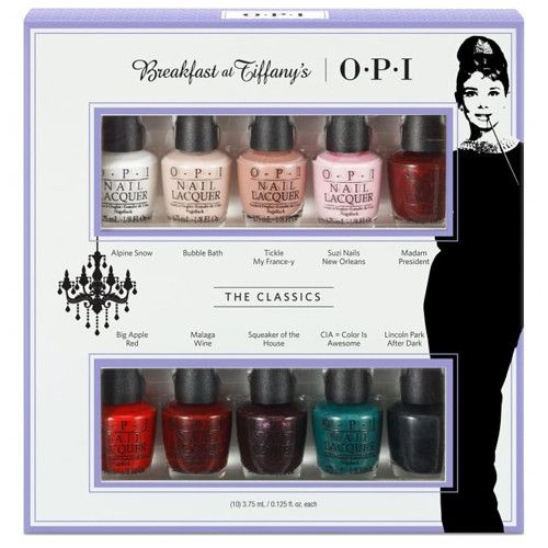 OPI 3.75 mL / 0.125 oz Package Includes: Alpine Snow Bubble Bath Tickle My France-y Suzi Nails New Orleans Madam President Big Apple Red Malage Wine Squeaker of the House CIA = Color is Awesome Lincol