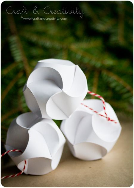 Paper ornaments - by Craft & Creativity