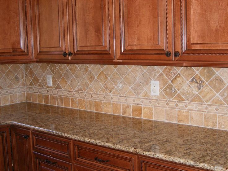 travertine backsplash granite counter top pinterest
