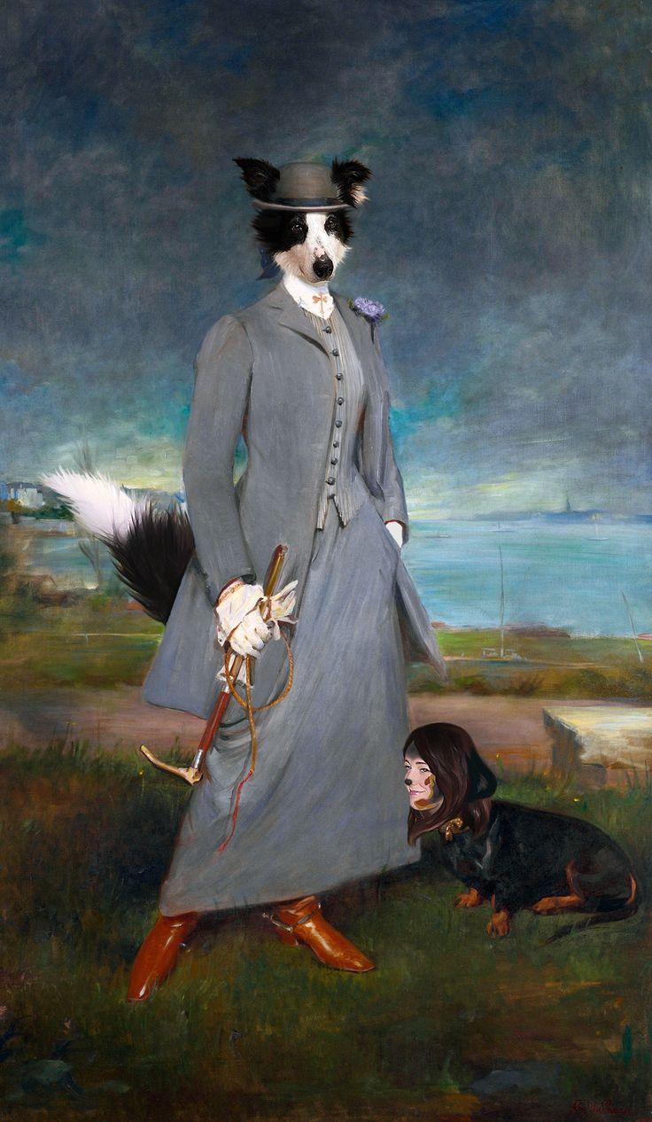 """""""Comtesse de La Bellerie"""", Charles Spaniel Wowwain. Based on """"La Comtesse de La Mettrie"""" by Charles Albert Walhain, 1910."""