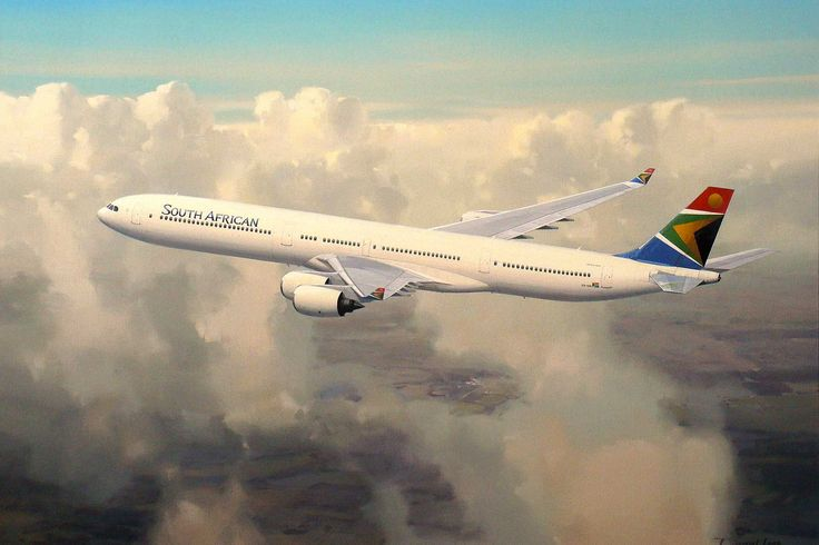 Airbus A340-600 Cruising at medium altitude, this SAA A-340 climbs away en route to London.