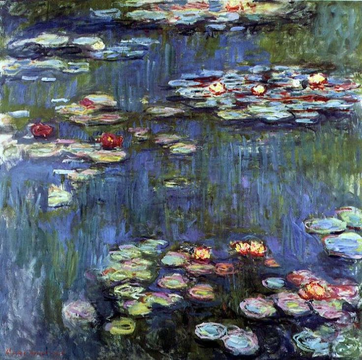 Water Lilies by Claude Monet 1916