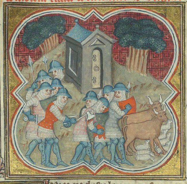 Brigandines Bib. Ste. Genevieve MS.777 Decades, folio 33v, 1370, Frankrijk