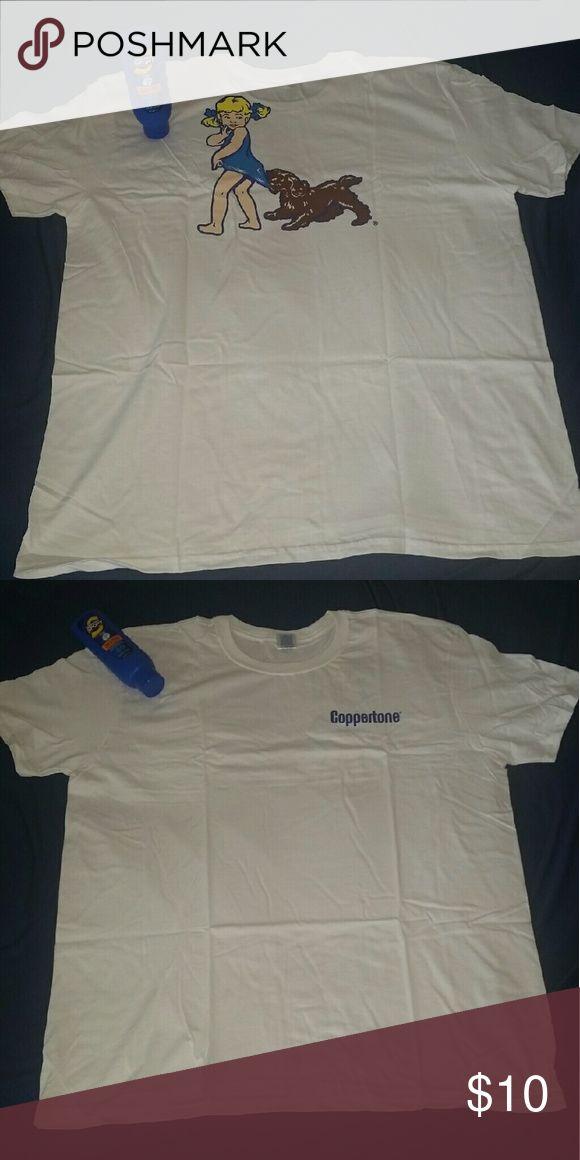 Coppertone white beach shirt White xl coppertone beach shirt new never worn. Gildan Swim Coverups