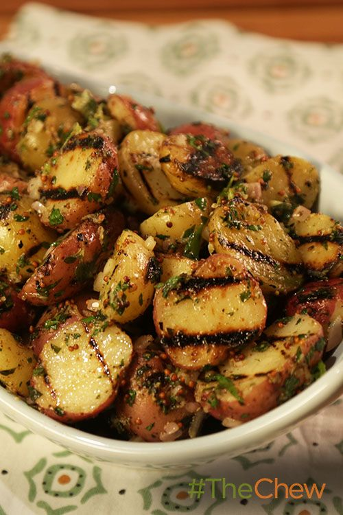 Grill up this Simple Grilled Potato Salad with Grilled Lemon Vinaigrette and enjoy!