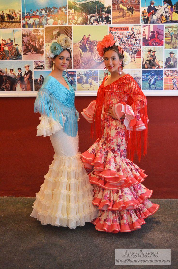 #trajesdeflamenca #modaflamenca  #complementosdeflamenca #Azahara #Fuengirola #peonia #coral #blanco