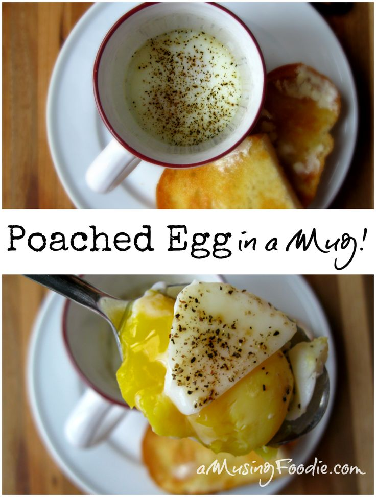 How to make a poached egg IN A MUG!! So yummy....