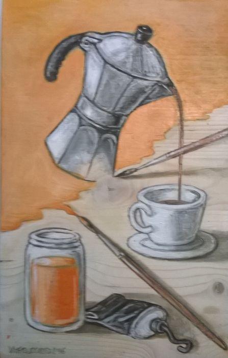 Attualmente nelle aste di #Catawiki: Vittorio Zocco - Caffè Atelier