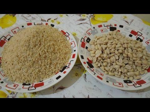 كيفية تحويل الفول السوداني _ الكاوكاو الى لوز  méthode réussi de transfert les cacahuète aux amandes - YouTube