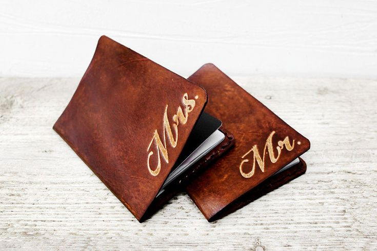 Passport cover - leather gift ideas for your third wedding anniversary