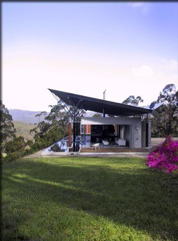 kangaroo valley extremen bij elkaar strak industrieel gebruik van matrialen gecombineerd met hout in een landschappelijke omgeving