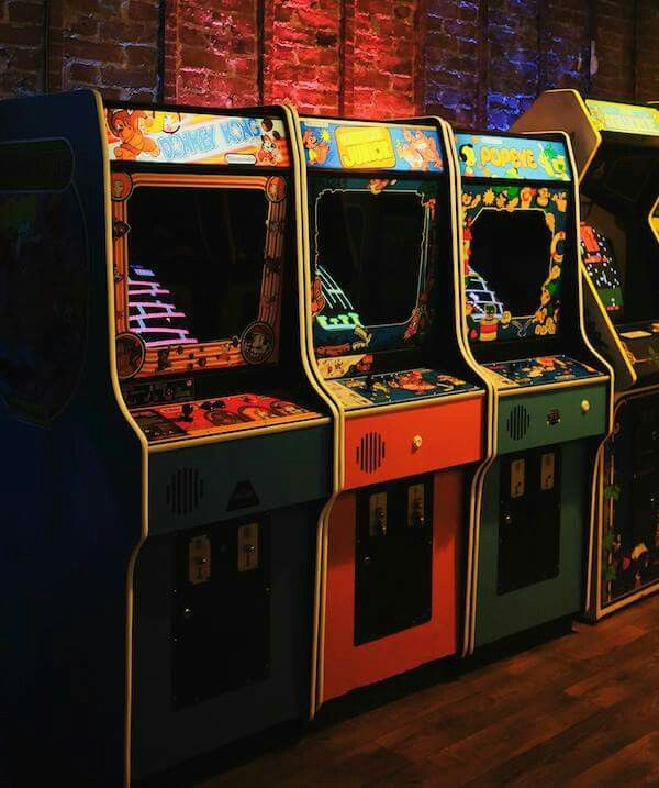 80s video game arcade- I always tagged along with my brother who was 3 years older and also an arcade pro. He always has tons of people watching him play. I remember how cool it was to watch him clear Dragons lair and save the princess at the end. ♡