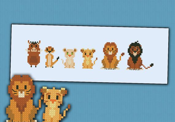 The Lion King parody  Cross stitch PDF pattern por cloudsfactory