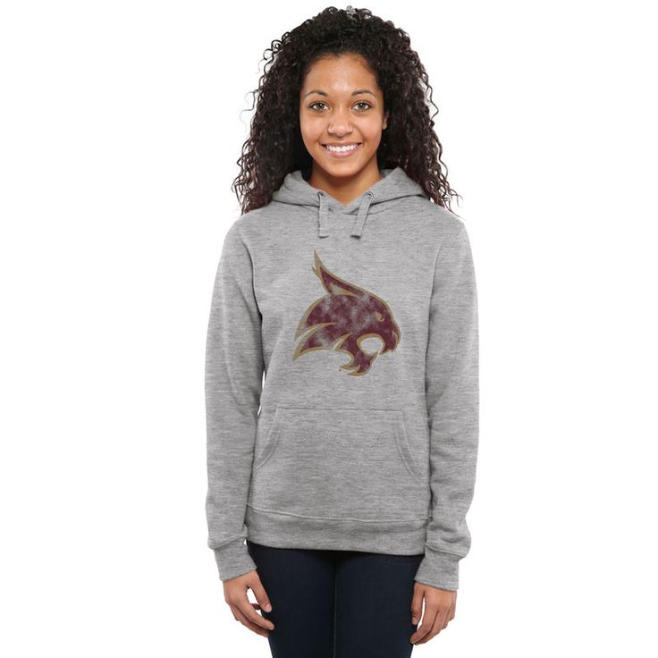 Texas State Bobcats Women's Classic Primary Pullover Hoodie - Ash -