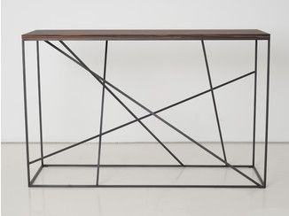 Rectangular steel and wood console table MIKADO | Console table - INTERNI EDITION