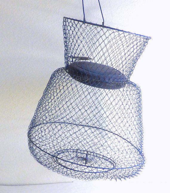 Vintage Sportfisher Wire Fishing Basket