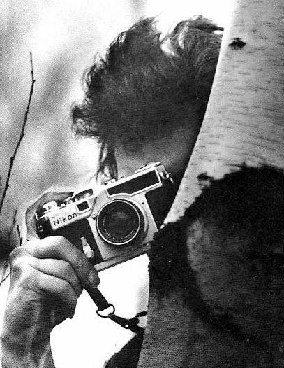 Bob Dylan with a Nikon.