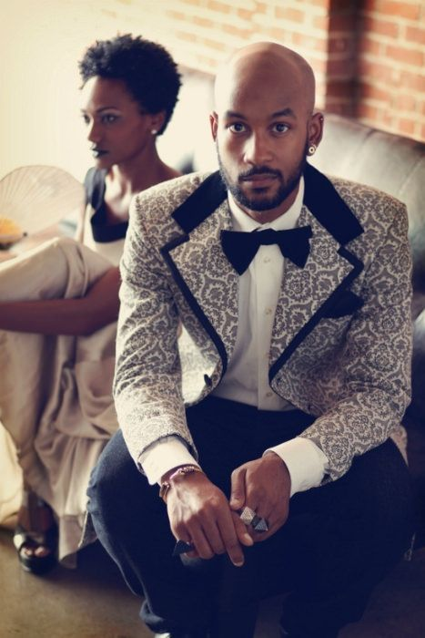 A printed tux for the groom who isn't afraid to make a statement. Photo Source: pinterest. #tuxedo