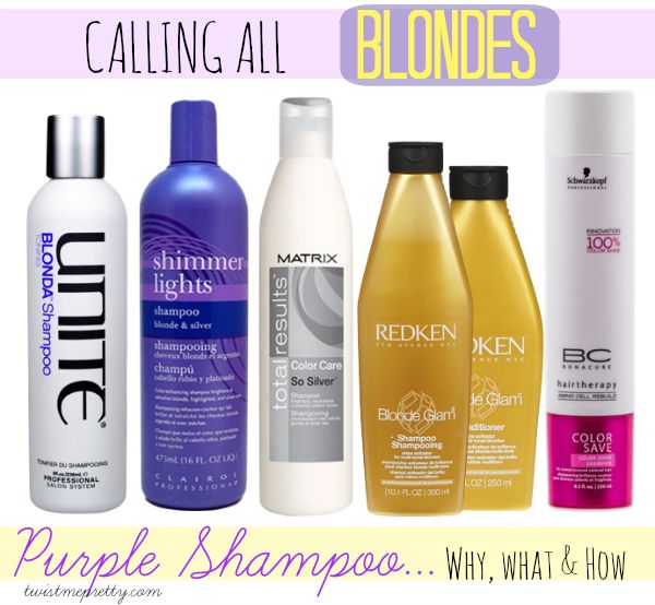 For Blondes: Purple Shampoo... Why, What and How