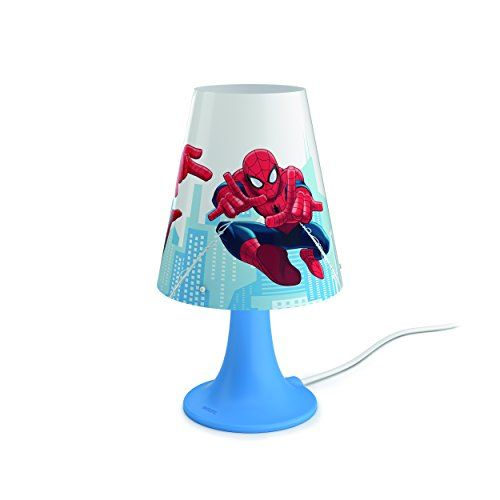 From 19.98:Philips Marvel Spiderman Children's Bedside Led Table Lamp - Blue