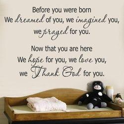 SOOO true...and cute in a nursery!