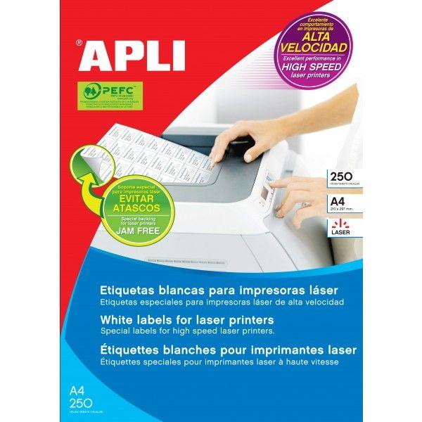 Comprar Apli Etiquetas Autoadhesivas para láser 105 x 37 02525  #autoadhesivo #business #etiquetas #blancas #material #empresa #comercio #comercial #laser