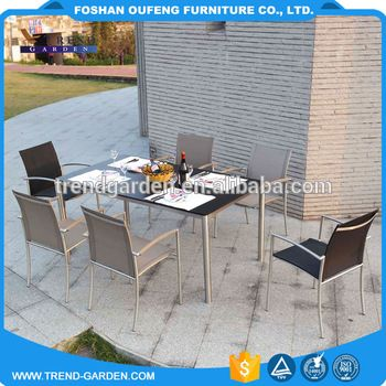 New style height adjustable indian comfort stainless steel dining tables and chairs sets furniture