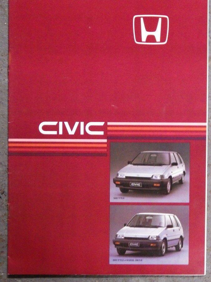 HONDA CIVIC SHUTTLE Original 1985 CAR BROCHURE Old Car Brochures