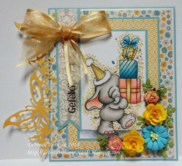 Card featuring Bella from Wild Rose Studio designed by Deborah Deruyck