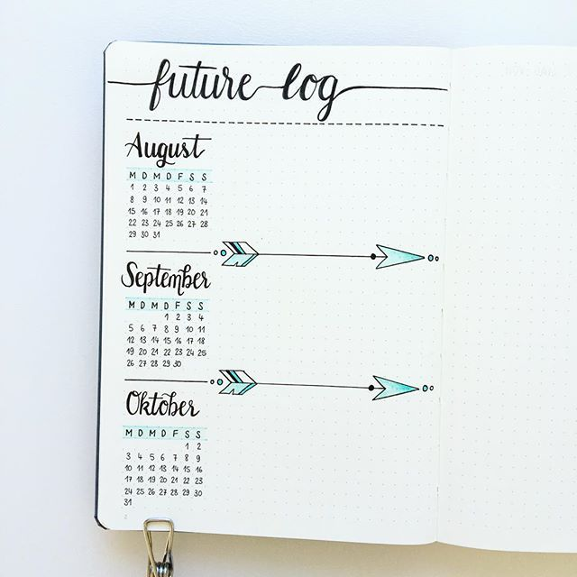 Preparing my new Bullet Journal... I'm using this future log for 7 months now, and I really love the layout. I'm using this with a simple color code, which I'll show you later on.