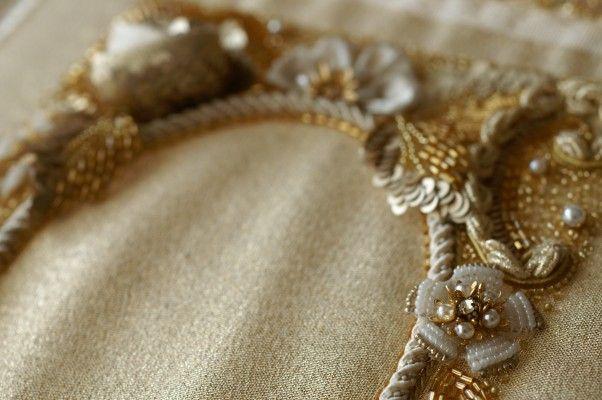 オートクチュール刺繍のネックレスとピアス