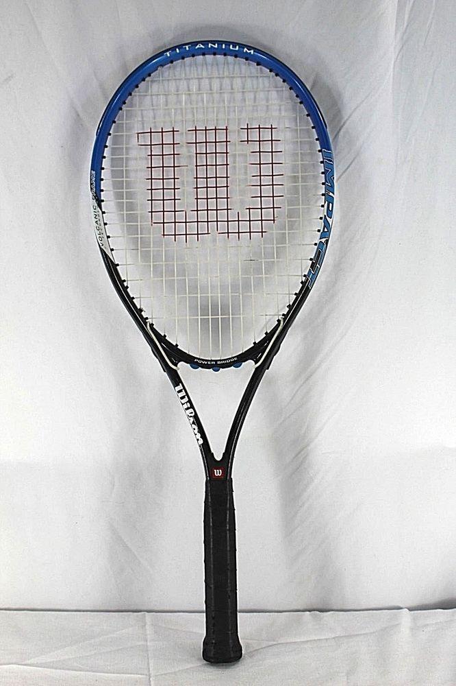 Wilson Impact Titanium Volcanic Frame Tennis Racquet Grip Size 4 3 8 L3 Wilson Tennis Tennis Racquet Racquets