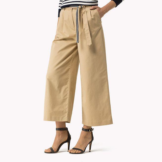 Tommy Hilfiger Pantalon Jambes Larges - curds & whey (Marron) - Tommy Hilfiger Évasés - image secondaire 0