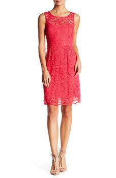 Donna Ricco - Lace Fit & Flare Dress