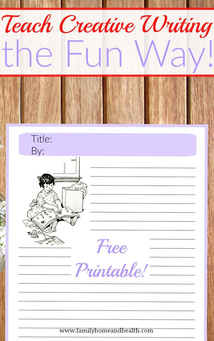 Learn how to teach creative writing the fun way-free printable!
