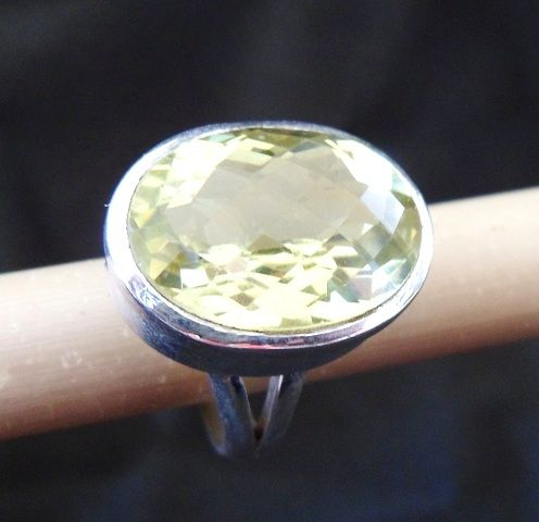 * CITRINE RING * * Sterling Silver * * Size 7 3/4 *